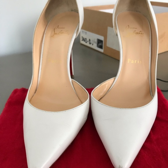 Christian Louboutin White Iriza 100mm